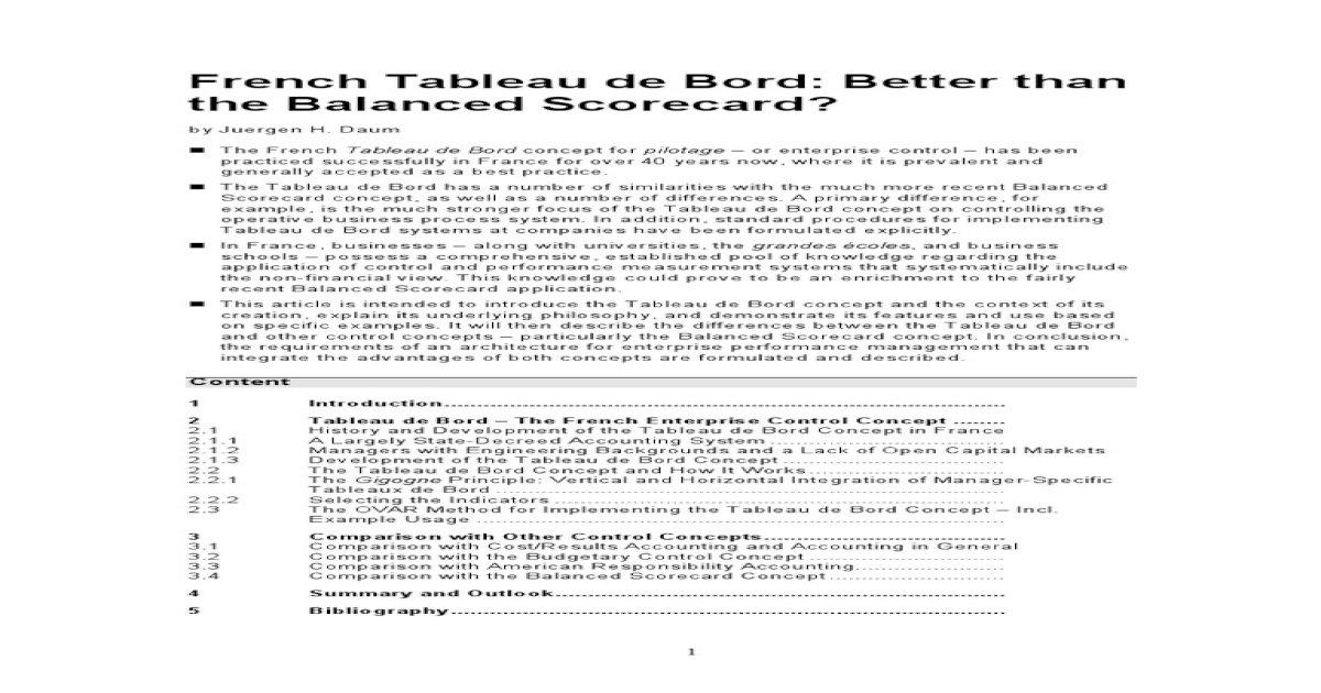 Tableau De Bord J Daum En Pdf Document