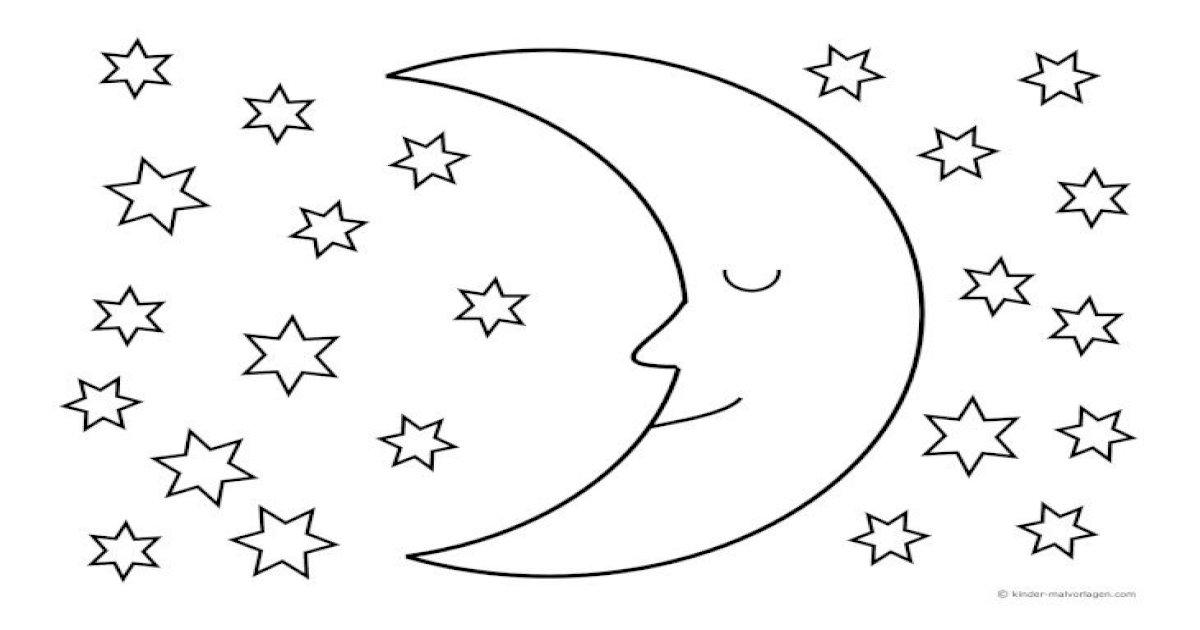 malvorlagen sternenhimmel schlafender malvorlagen